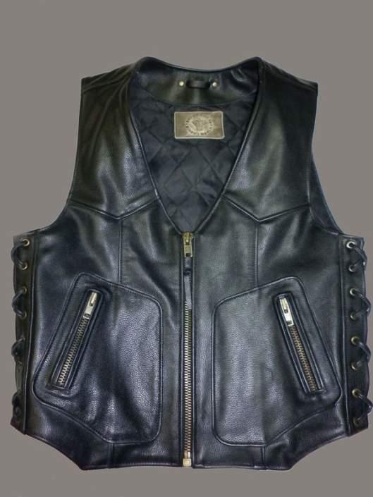 Классический кожаный жилет