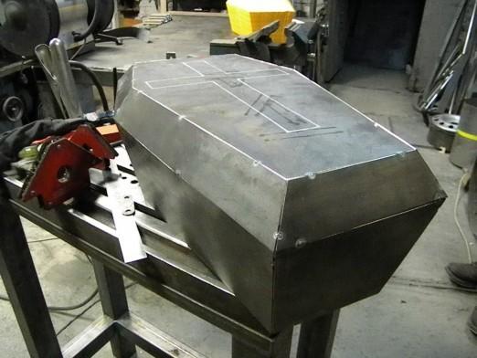 изготовление бака Coffin Tank