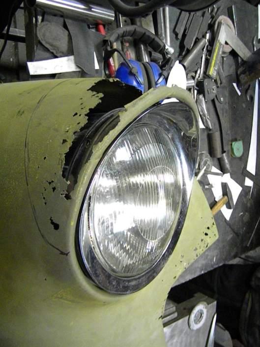 Реставрация крыла Opel Olympia 1958